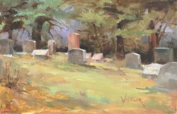 Oil painting of cemetery